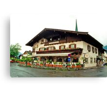 Trattoria at Kossen, Austria Canvas Print