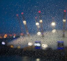 Rainy Pane, Dome Lights by gsp100677
