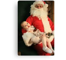Meeting Santa for the first time - Ashland KY Canvas Print