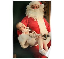 Meeting Santa for the first time - Ashland KY Poster