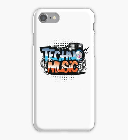 Techno Music iPhone Case/Skin