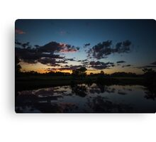after the sunset Canvas Print