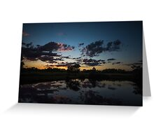 after the sunset Greeting Card