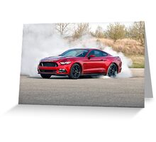2015 Ford Mustang Burnout Greeting Card