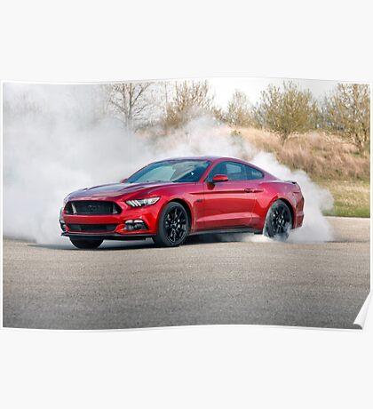 2015 Ford Mustang Burnout Poster