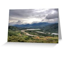 valle de Orosi  Greeting Card