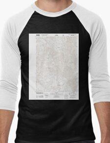 USGS Topo Map Oregon Groundhog Mountain 20110810 TM Men's Baseball ¾ T-Shirt