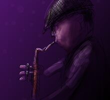 The Sax Player by Tom Godfrey