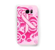 Negative Space Pink Ribbon Abstract Breast Cancer Awareness Tee Samsung Galaxy Case/Skin