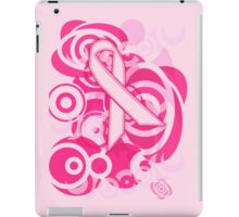 Negative Space Pink Ribbon Abstract Breast Cancer Awareness Tee iPad Case/Skin