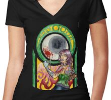 Dawn - Nouveau Women's Fitted V-Neck T-Shirt