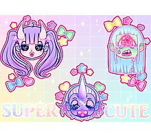 SUPER CUTE MONSTERS Photographic Print