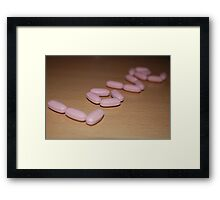 Love in pills Framed Print