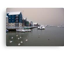 Snowy Harbour Canvas Print