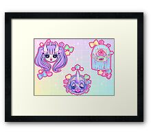 SUPER CUTE MONSTERS- Cyclops Only Framed Print