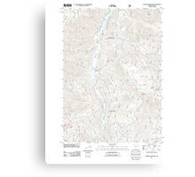USGS Topo Map Oregon Warner Mountain 20110722 TM Canvas Print