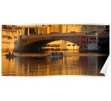 Rowing under the bridge Poster