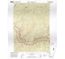 USGS Topo Map Oregon Bunker Creek 279203 1998 24000 Poster