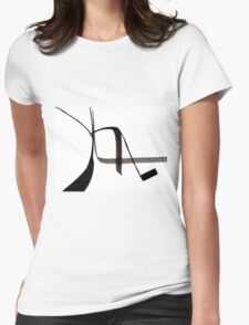 Abstract Ink Design  Womens Fitted T-Shirt