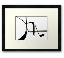 Abstract Ink Design  Framed Print