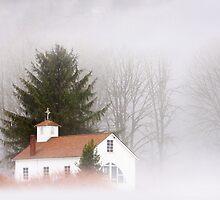 A Church Among the Mist by Mikhail Lenitsyn