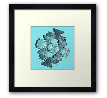 BLUE-GREEN ABSTRACT  Framed Print