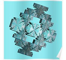 BLUE-GREEN ABSTRACT  Poster