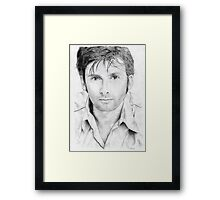 David Tennant sketch Framed Print