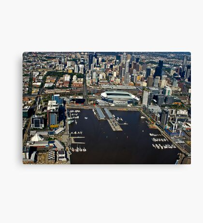 Docklands, Melbourne on a great afternoon - 2011 Canvas Print