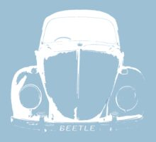 VW Beetle - White One Piece - Short Sleeve