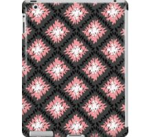 Black, Grey and Pink Retro Pattern  iPad Case/Skin