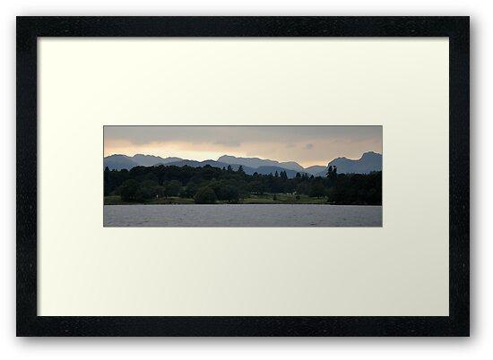 Sunset at Lake Windermere - Lake District by redscorpion