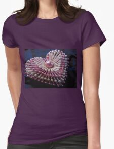 Pink Sparkly Heart Womens Fitted T-Shirt