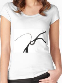 Abstract Art Design  Women's Fitted Scoop T-Shirt