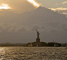 Statue of Liberty at Sunset by leungnyc