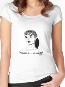 Audrey Hepburn #1 Women's Fitted Scoop T-Shirt