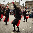 The Red Ladies from Manor Mill Morris. by Ruth Jones