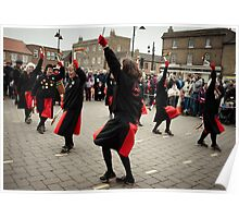 The Red Ladies from Manor Mill Morris. Poster