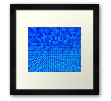 VISION OF THOUGHT ABSTRACT [1] INDIGO [1] Framed Print
