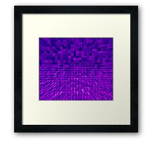 VISION OF THOUGHT ABSTRACT [1] VIOLET [1] Framed Print