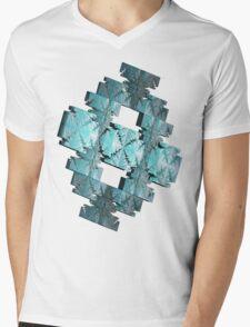 LIGHT BLUE ABSTRACT # 2  Mens V-Neck T-Shirt