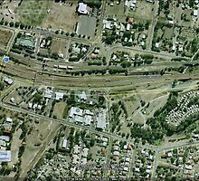 Goodna, Qld 2011 floods Google Earth Map by Tim  Geraghty-Groves