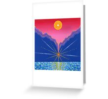 where two mountains meet Greeting Card