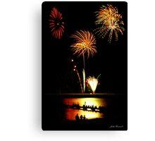Fireworks Beach Festival, Busselton Canvas Print
