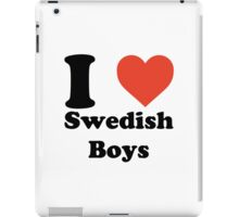 I love (heart) Swedish Boys iPad Case/Skin