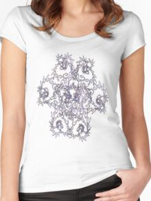 PURPLE ABSTRACT # 2 Women's Fitted Scoop T-Shirt