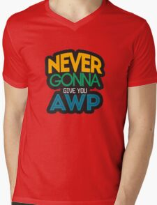 Counter-Strike: Never gonna give you AWP Mens V-Neck T-Shirt