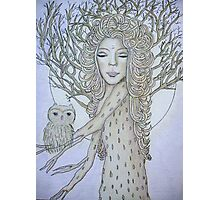 Dryad in the moonlight Photographic Print