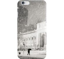 Winter Night in the Snow - New York City iPhone Case/Skin