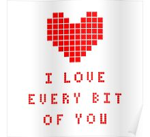 I love every bit of you Poster